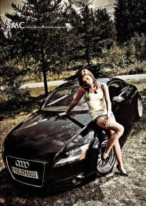Audi TT and girl www.sportsmodifiedcars.blogspot.com