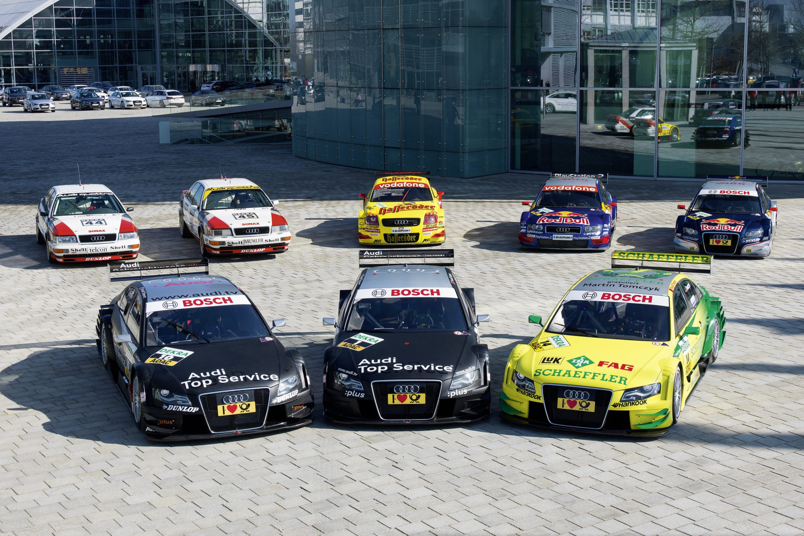 2011: The DTM winning cars from 1990, 1991, 2002, 2004, 2007, 2008, 2009 and 2011