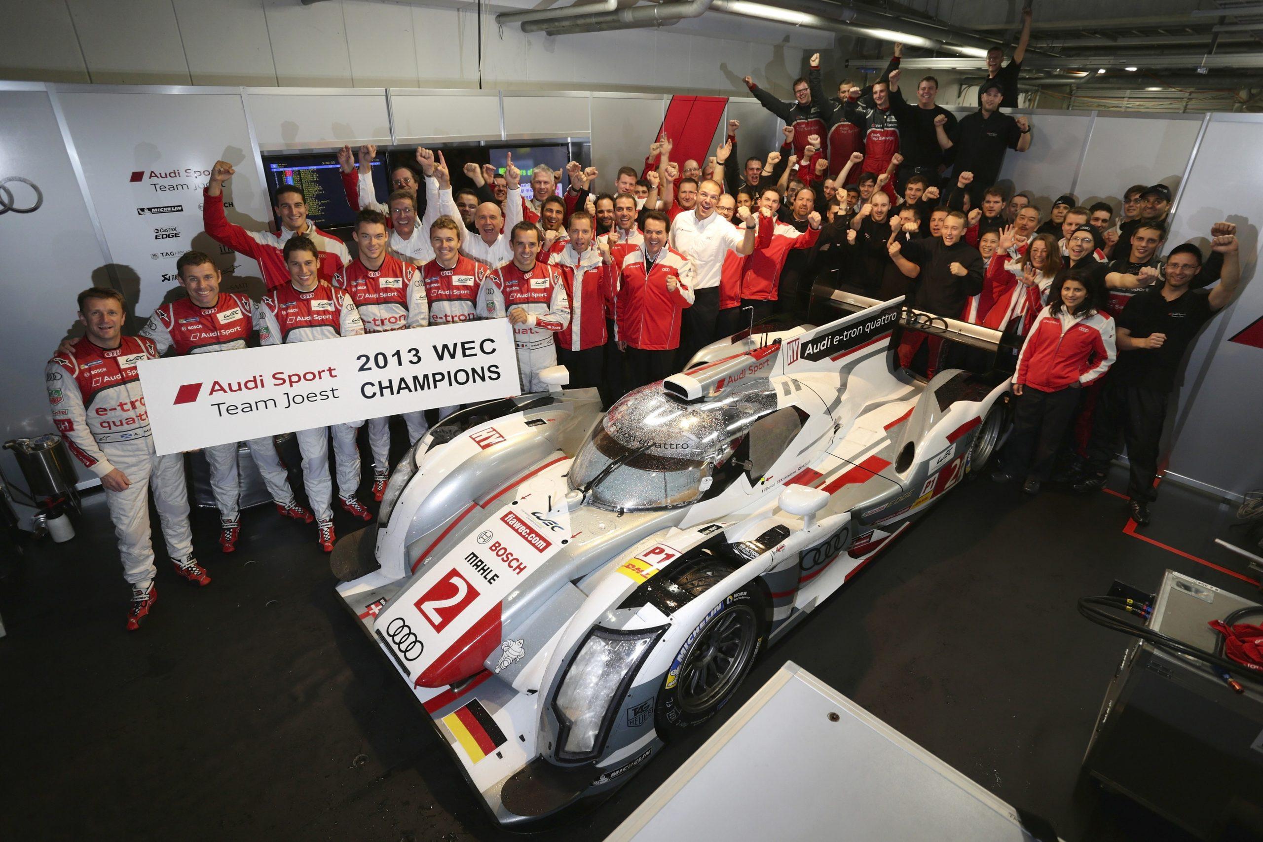2013: Successful title defense in the FIA World Endurance Championship WEC