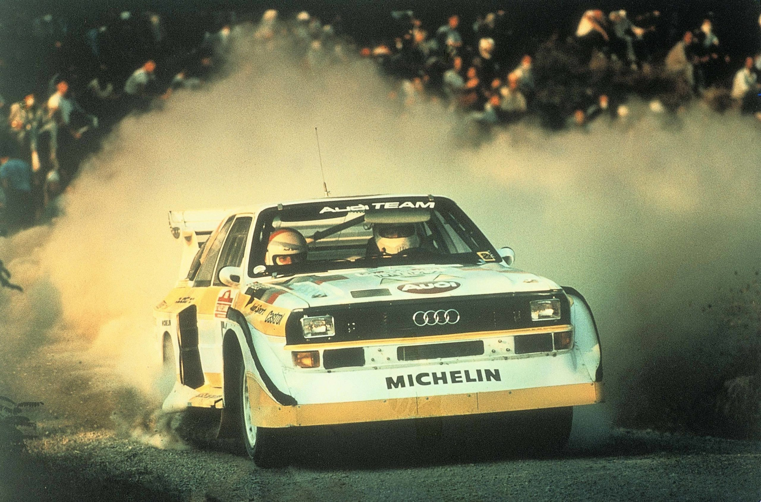 1985: Walter Röhrl wins the Rally San Remo with the Audi Sport quattro S1