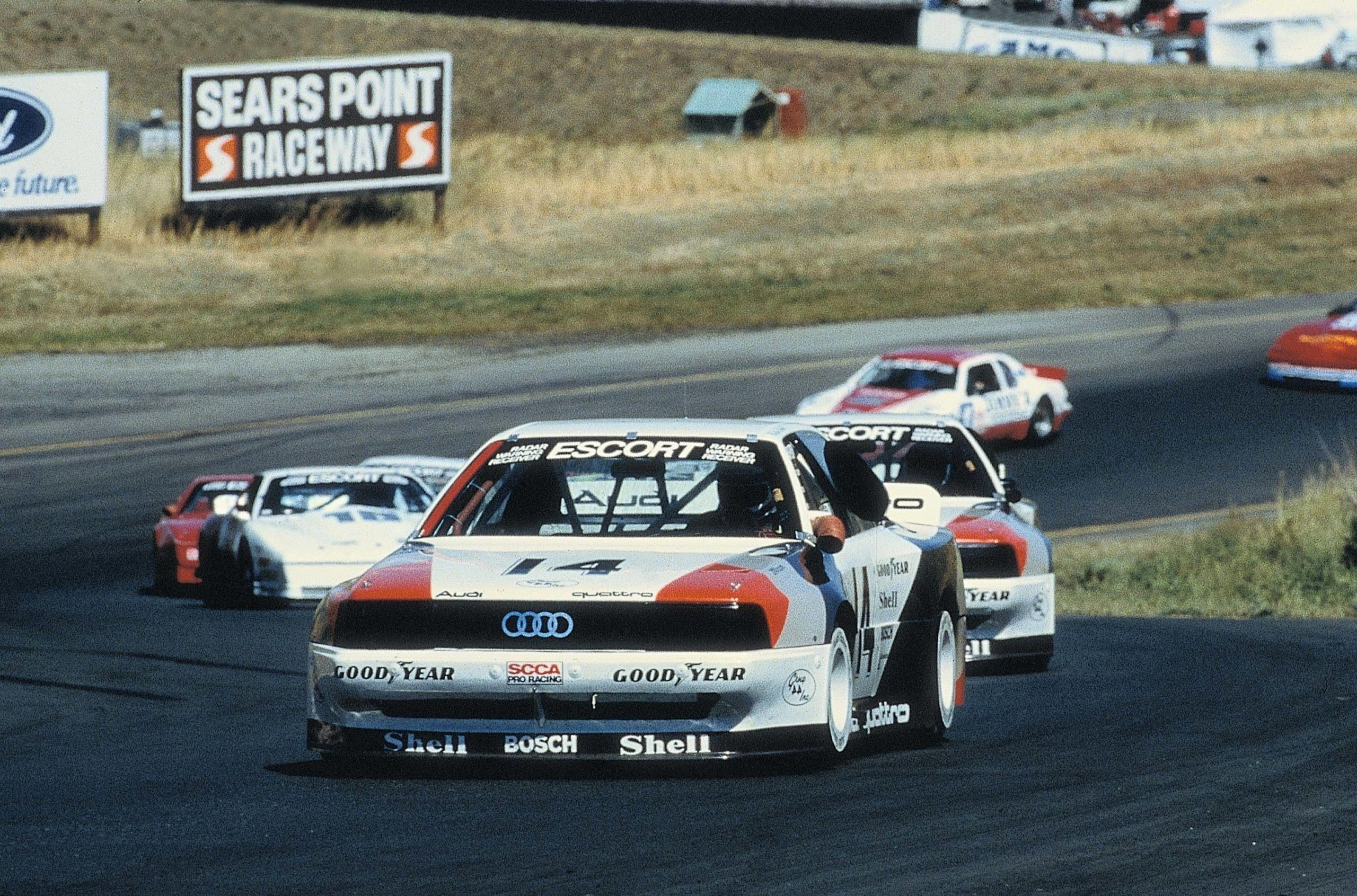 1988: Hurley Haywood wins the TransAm Championship with the Audi 200 quattro