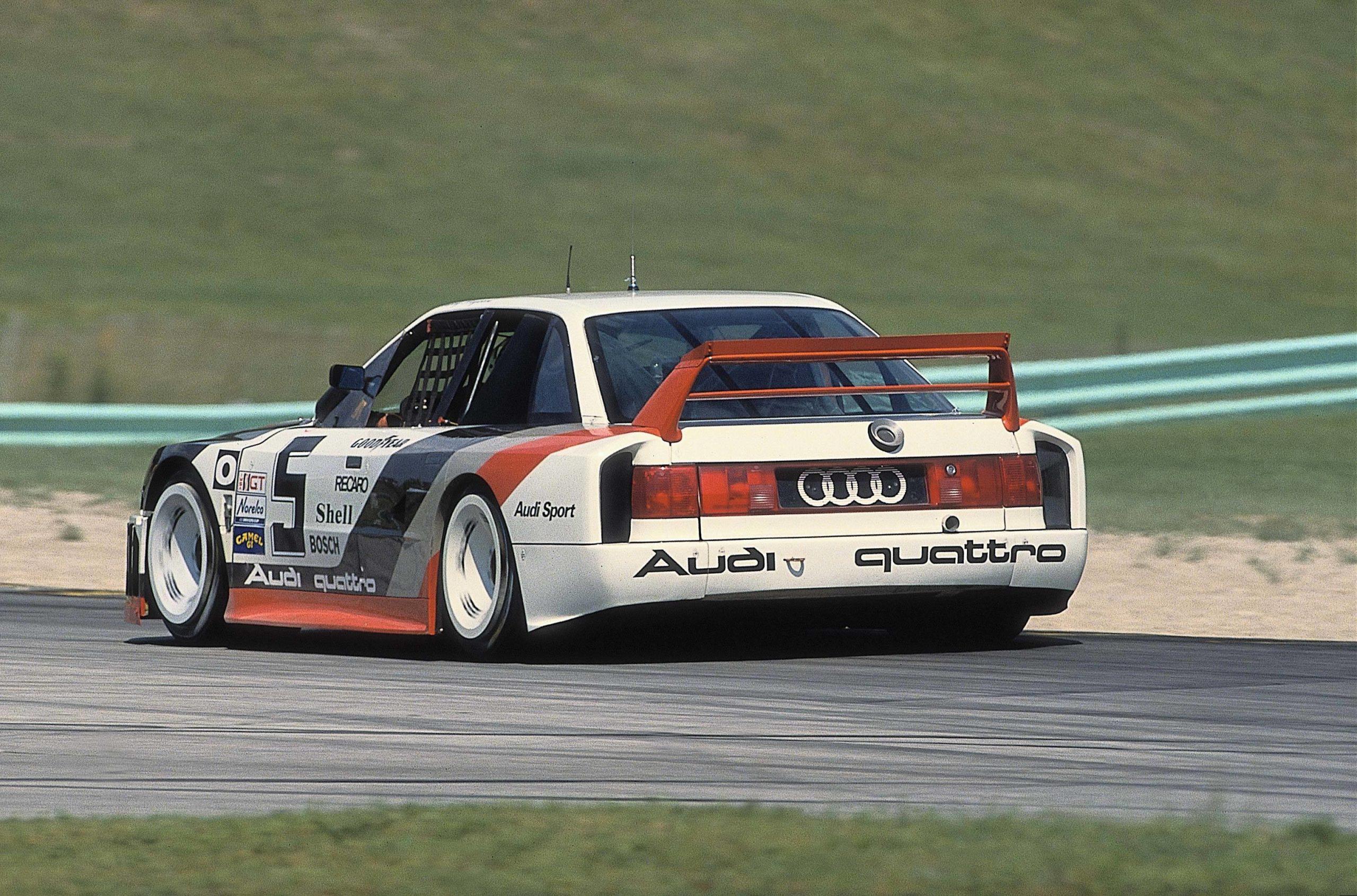 1989: In the IMSA-GTO Series Hans-Joachim Stuck celebrates seven wins in an Audi 90