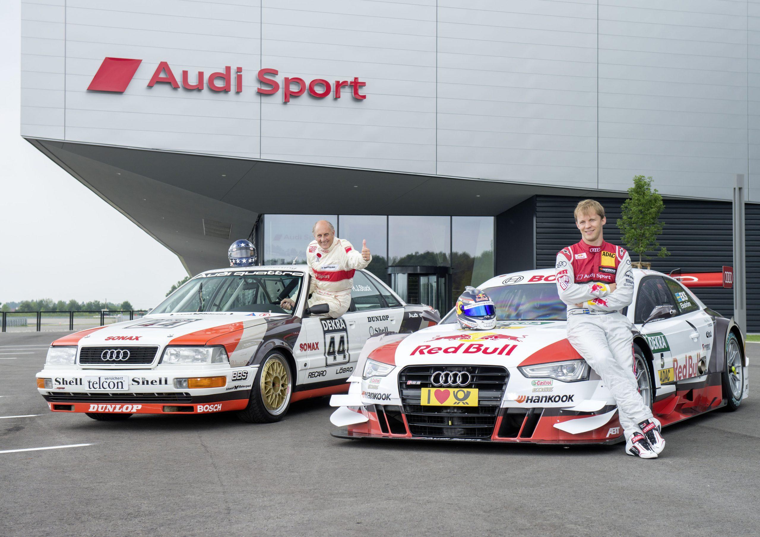 Audi V8 quattro (1990), Red Bull Audi RS 5 DTM (2015), Hans-Joachim Stuck, Mattias Ekström