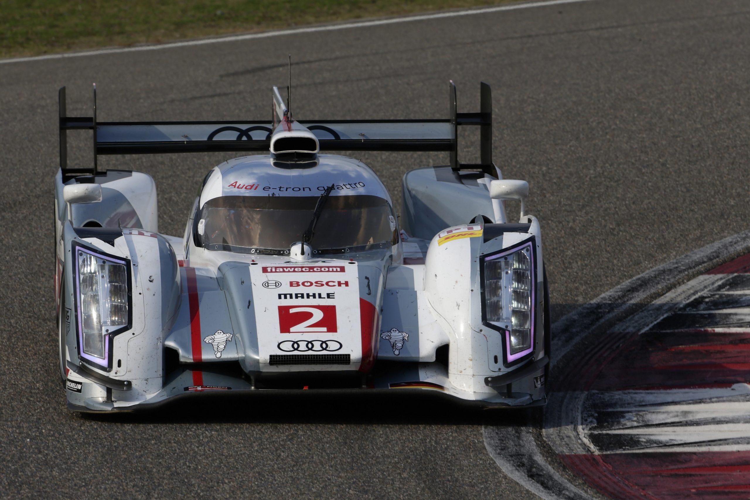 Audi R18 e-tron quattro #2 (Audi Sport Team Joest), Loïc Duval (F), Tom Kristensen (DK), Allan McNish (GB)